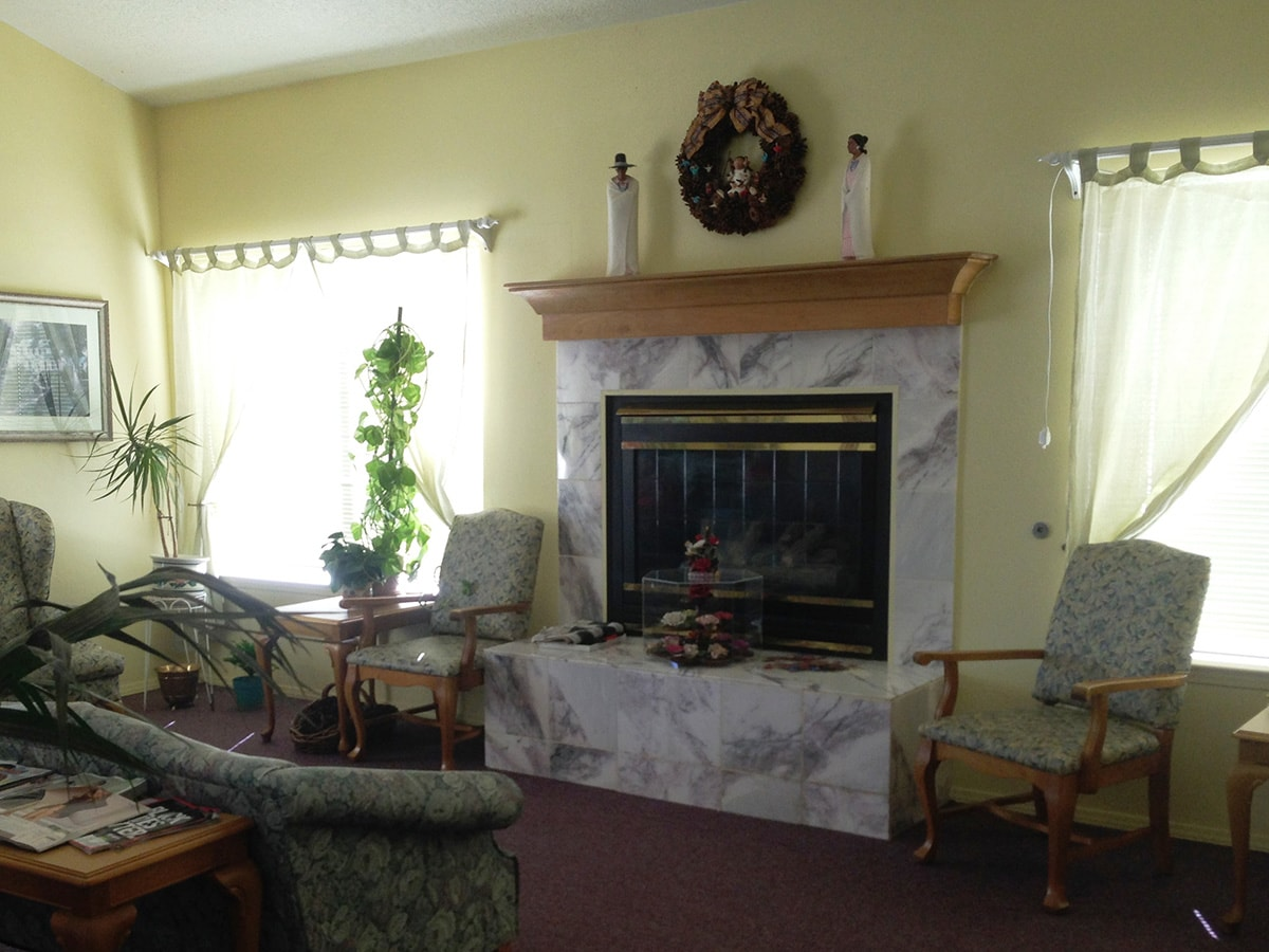 Assisted Living fireplace marble