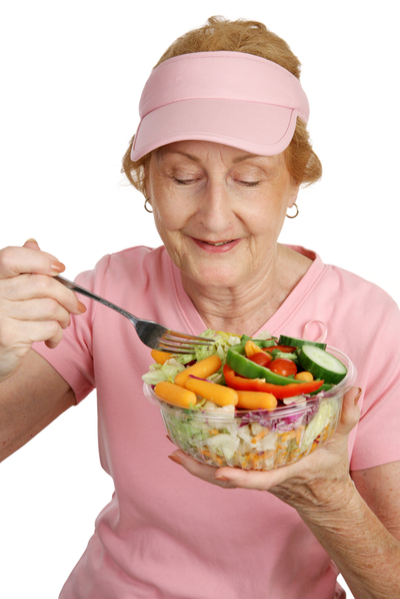 senior-eating-healthy-salad
