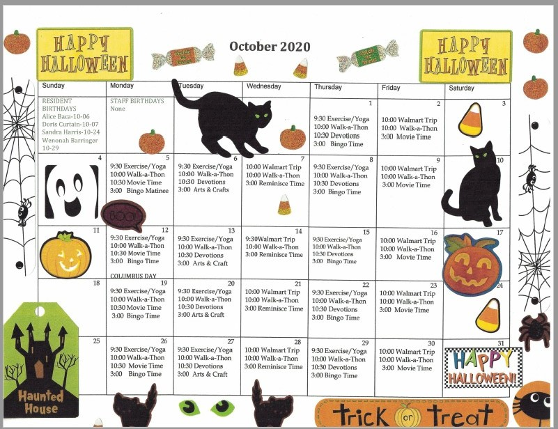 2020_Oct_WW_activity calendar assisted living albuquerque